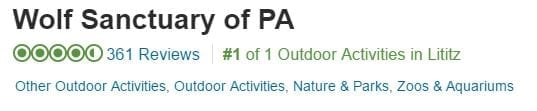 Rated no.1 outdoor activity in Lititz by Travel Advisor